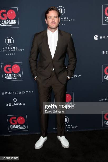 Armie Hammer attends the Go Campaign's 13th Annual Go Gala at NeueHouse Hollywood on November 16 2019 in Los Angeles California