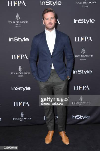 Armie Hammer attends The Hollywood Foreign Press Association and InStyle Party during 2018 Toronto International Film Festival at Four Seasons Hotel...
