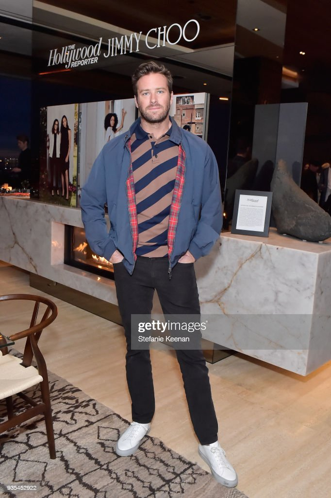 Armie Hammer attends The Hollywood Reporter and Jimmy Choo Power Stylists Dinner on March 20, 2018 in Los Angeles, California.