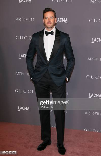 Armie Hammer attends the LACMA Art + Film Gala honoring Mark Bradford and George Lucas on November 04, 2017 in Los Angeles, California.