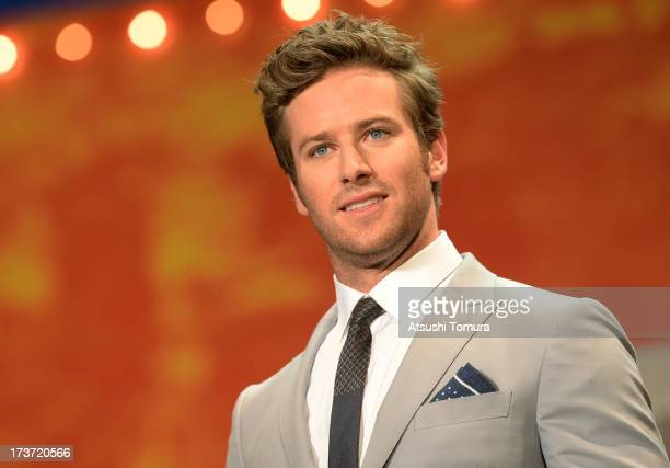 Armie Hammer attends the 'Lone Ranger' Japan Premiere at Roppongi Hills on July 17 2013 in Tokyo JapanThe film will open on August 2 in Japan