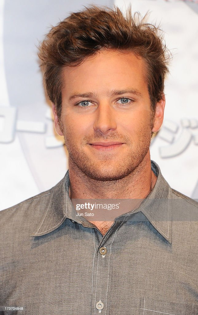 Armie Hammer attends 'The Lone Ranger' photo call at the Park Hyatt Hotel on July 17, 2013 in Tokyo, Japan.