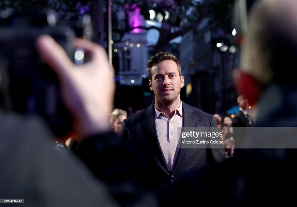 Armie Hammer attends the Mayor Of London Gala & UK Premiere of 'Call Me By Your Name' during the 61st BFI London Film Festival on October 9, 2017 in London, England.
