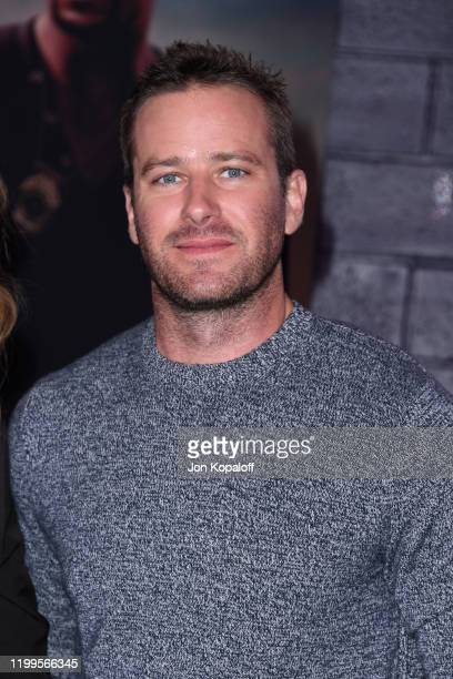 """Armie Hammer attends the premiere of Columbia Pictures' """"Bad Boys For Life"""" at TCL Chinese Theatre on January 14, 2020 in Hollywood, California."""