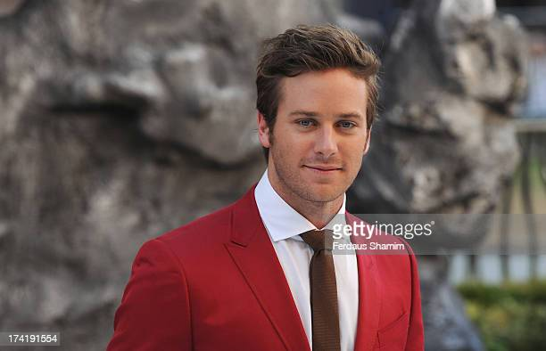"""Armie Hammer attends the UK premiere of """"The Lone Ranger"""" at Odeon Leicester Square on July 21, 2013 in London, England."""