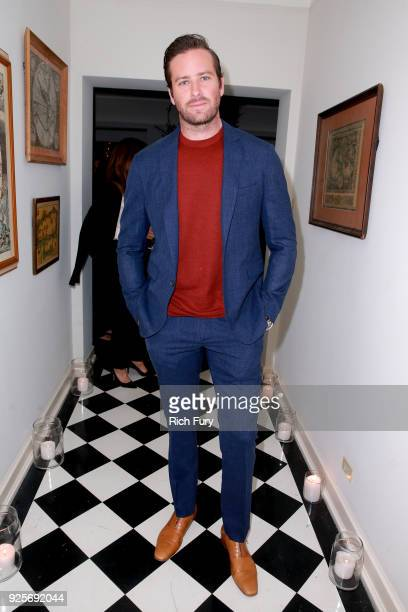Armie Hammer attends the Vanity Fair and Barneys New York celebration of Sony Pictures Classics' 'Call Me By Your Name' on February 28 2018 in Los...