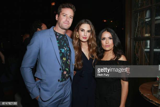 Armie Hammer, Elizabeth Chambers and Salma Hayek attend the Hollywood Foreign Press Association and InStyle celebrate the 75th Anniversary of The...