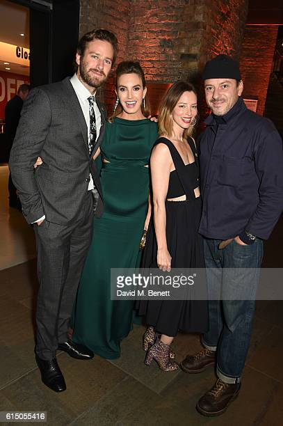 Armie Hammer Elizabeth Chambers Sienna Guillory and Enzo Cilenti attend the Closing Night Gala party during the 60th BFI London Film Festival at The...