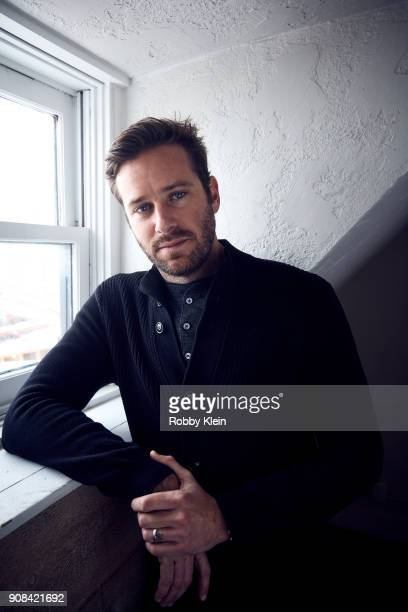 Armie Hammer from the film 'Sorry To Bother You' poses for a portrait in the YouTube x Getty Images Portrait Studio at 2018 Sundance Film Festival on...