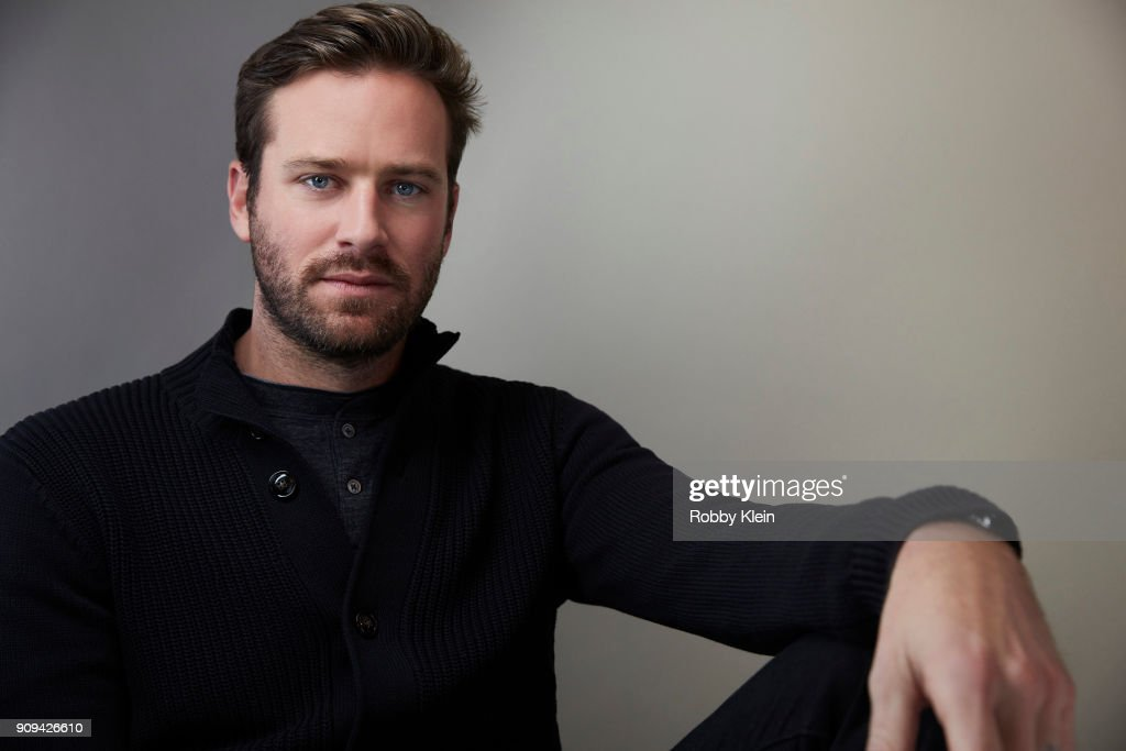 Armie Hammer from the film 'Sorry To Bother You' poses for a portrait at the YouTube x Getty Images Portrait Studio at 2018 Sundance Film Festival on January 21, 2018 in Park City, Utah.