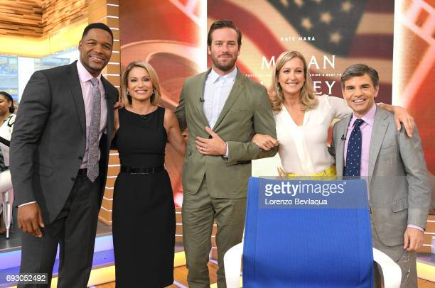 """Armie Hammer is a guest on """"Good Morning America,"""" Monday, June 5, 2017 on the Walt Disney Television via Getty Images Television Network. MICHAEL..."""