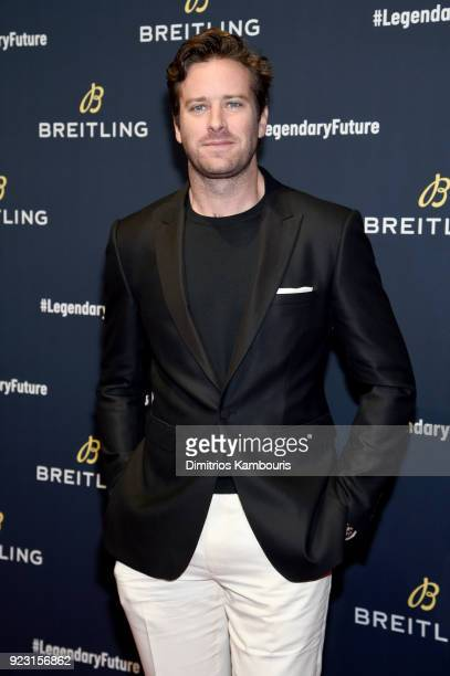 Armie Hammer on the red carpet at the #LEGENDARYFUTURE Roadshow 2018 New York on February 22 2018
