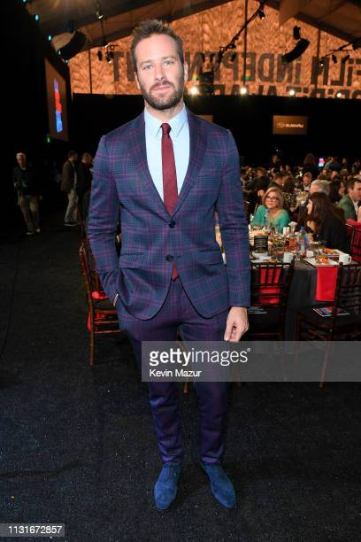 Armie Hammer poses during the 2019 Film Independent Spirit Awards on February 23 2019 in Santa Monica California