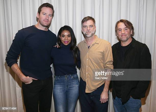 Armie Hammer Regina Hall Paul Thomas Anderson and Richard Linklater attend the Austin Film Society's Texas Film Awards Honoree Brunch at the Fairmont...