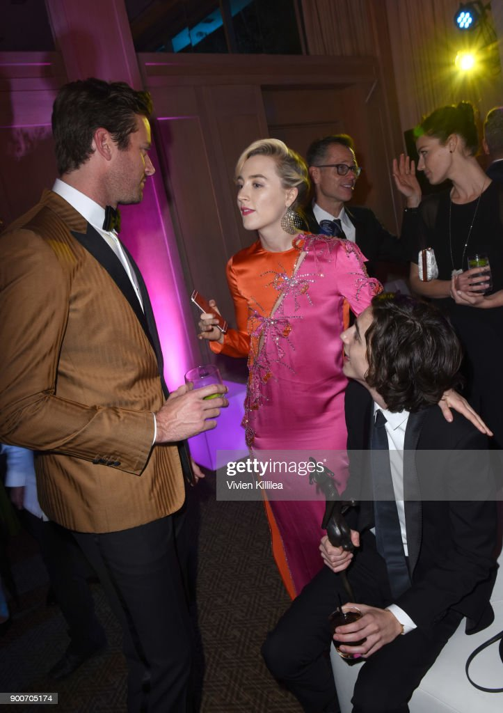 Armie Hammer, Saoirse Ronan and Timothee Chalamet attend the