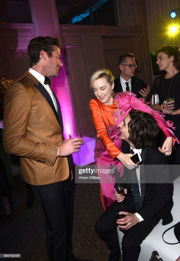 Armie Hammer, Saoirse Ronan and Timothee Chalamet attend the 29th Annual Palm Springs International Film Festival at Parker Palm Springs on January 2, 2018 in Palm Springs, California.