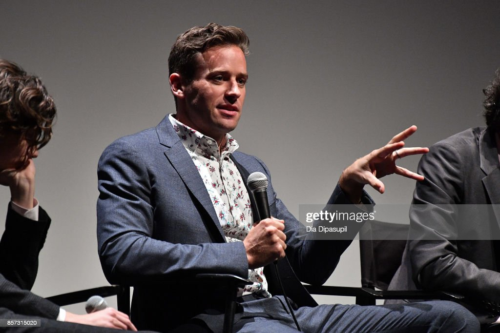 Armie Hammer takes part in a Q&A following a screening of 'Call Me by Your Name' during the 55th New York Film Festival at Alice Tully Hall on October 3, 2017 in New York City.