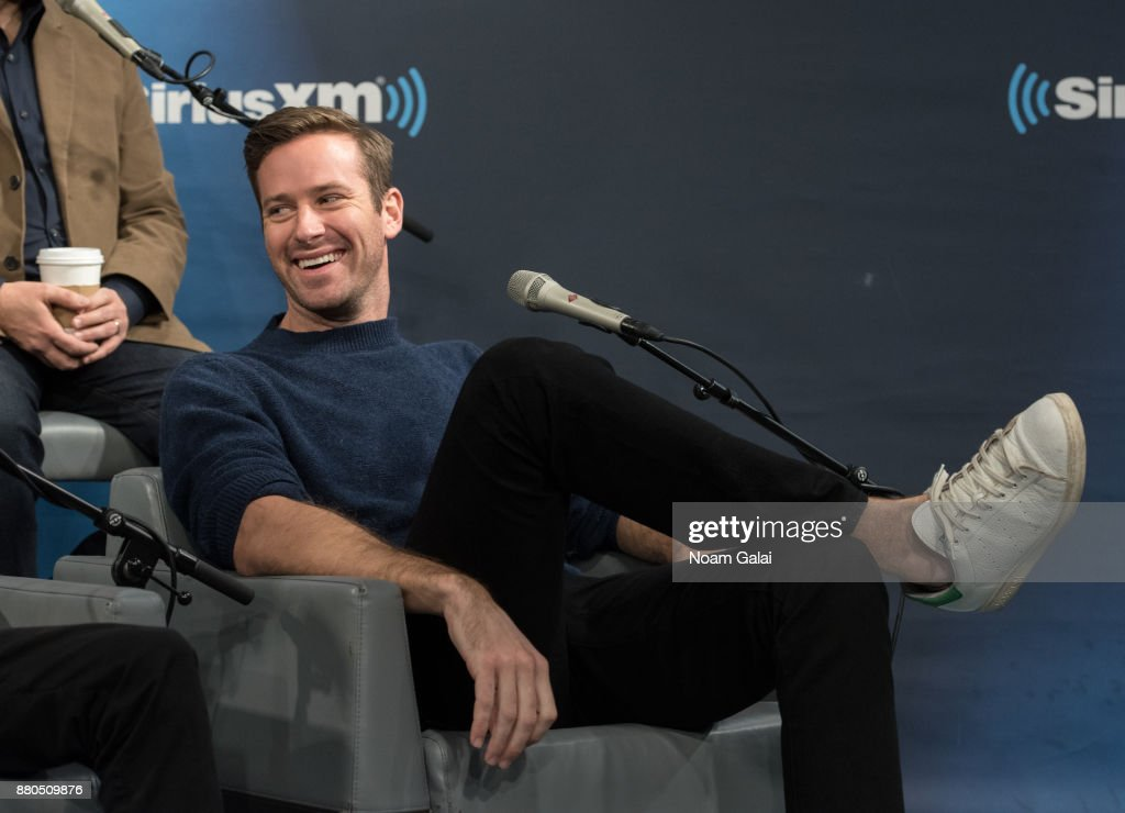 Armie Hammer visits the SiriusXM Studios on November 27, 2017 in New York City.