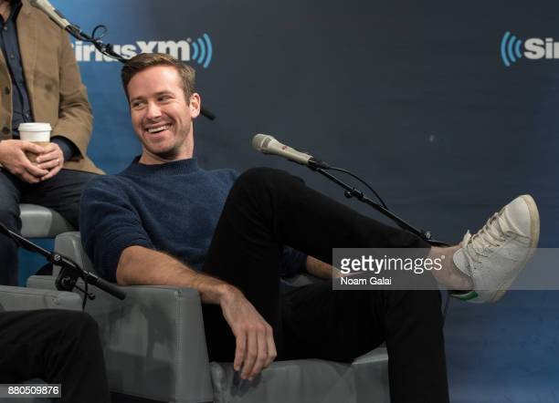 Armie Hammer visits the SiriusXM Studios on November 27 2017 in New York City