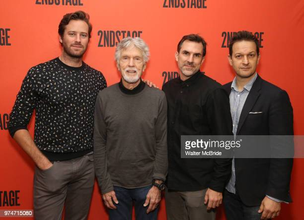 Armie HammerTom Skerritt Paul Schneider and Josh Charles attend photo call for the Second Stage Theatre Company production of 'Straight White Men' at...