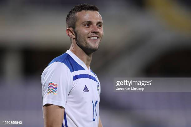 Armin Hodzic of Bosnia and Herzegovina smiles during the UEFA Nations League group stage match between Italy and Bosnia and Herzegovina at Artemio...