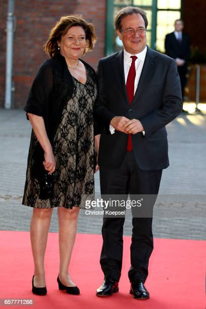 Armin Laschet and wife Susanne pose during the Steiger Award at Coal Mine Hansemann 'Alte Kaue' on March 25 2017 in Dortmund Germany
