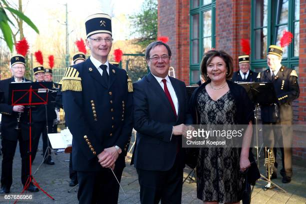 Armin Laschet and wife Susanne pose during the Steiger Award on at Coal Mine Hansemann Alte Kaue March 25 2017 in Dortmund Germany