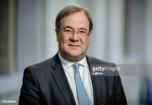 Armin Laschet CDU Prime Minister of the German state North RhineWestphalia poses for a picture on March 02 2018 in Berlin Germany