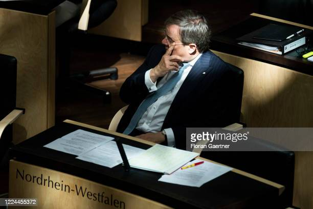 Armin Laschet CDU prime minister of the German state of North RhineWestphalia is pictured during the Meeting of the Federal Council on July 03 2020...