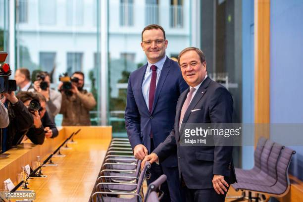 Armin Laschet deputy chairman of the Christian Democratic Union and Prime Minister of NorthrhineWestfalia and German Health Minister and leading...