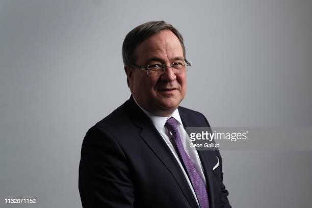 Armin Laschet Deputy coChairman of the German Christian Democrats and Governor of North RhineWestphalia poses for a brief portrait prior to speaking...