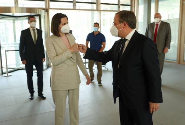 DEU: Svetlana Tikhanovskaya Visits Berlin