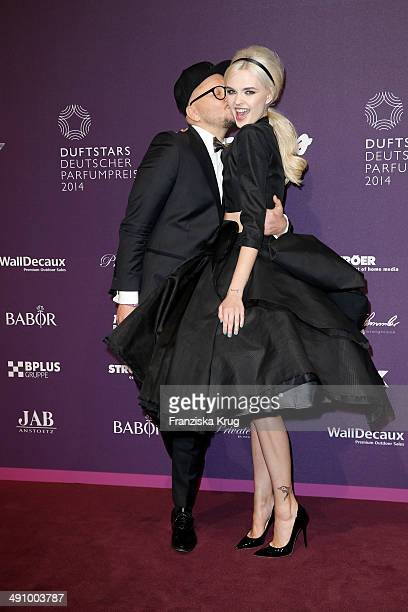 Armin Morbach and Bonnie Strange attend the Babor At Duftstars Awards 2014 at Arena Berlin on May 15 2014 in Berlin Germany