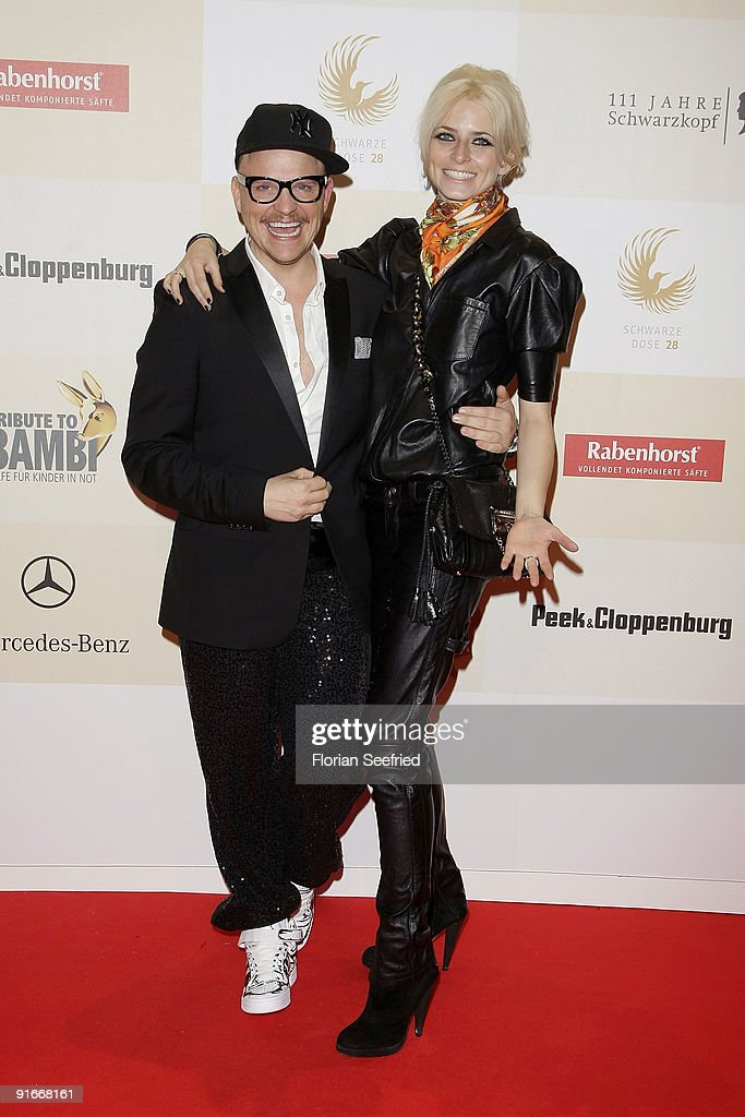 Armin Morbach and model Eva Padberg arrive for the 'Tribute To Bambi 2009' at the station on October 9, 2009 in Berlin, Germany.