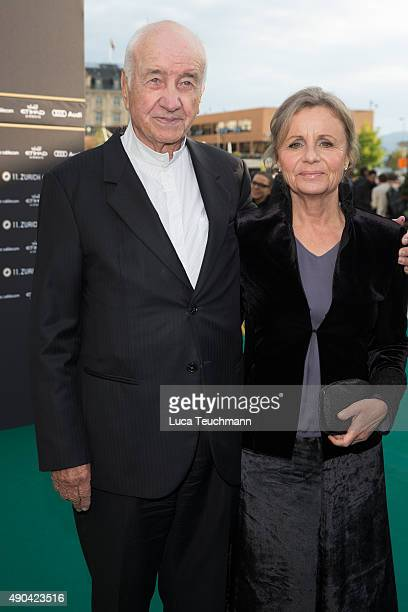 Armin MuellerStahl and Gabriele Scholz attend the 'Mr Robot' premiere during the Zurich Film Festival on September 27 2015 in Zurich Switzerland The...