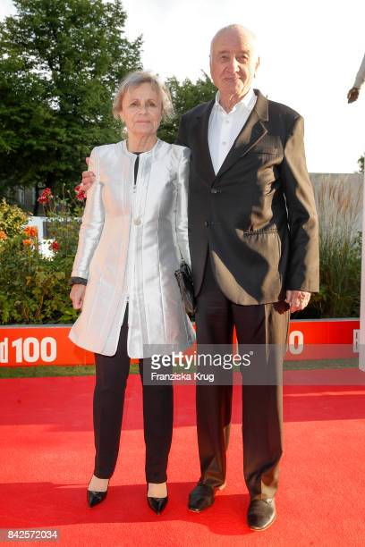 Armin MuellerStahl and his wife Gabriele Scholz attend the BILD100 event at Axel Springer Haus on September 4 2017 in Berlin Germany