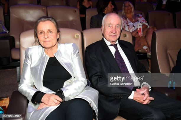 Armin MuellerStahl and his wife Gabriele Scholz during the 100th bitrhday celebration gala for Artur Brauner at Zoo Palast on September 8 2018 in...