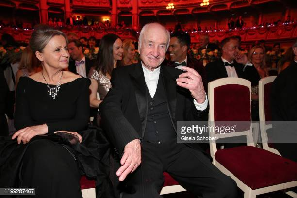 Armin MuellerStahl and his wife Gabriele Scholz during the 15th Semper Opera Ball 2020 at Semperoper on February 7 2020 in Dresden Germany