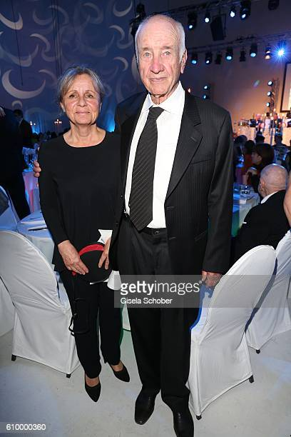 Armin MuellerStahl and his wife Gabriele Scholz during the 70th anniversary of Arthur Brauner's CCC Film Studios on September 23 2016 in Berlin...