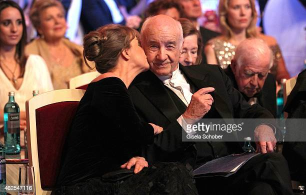 Armin MuellerStahl and his wife Gabriele Scholz during the Semper Opera Ball 2015 at Semperoper on January 30 2015 in Dresden Germany