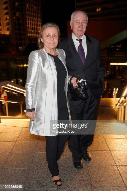Armin MuellerStahl and wife Gabriele Scholz during the 100th birthday celebration gala for Artur Brauner at Zoo Palast on September 8 2018 in Berlin...