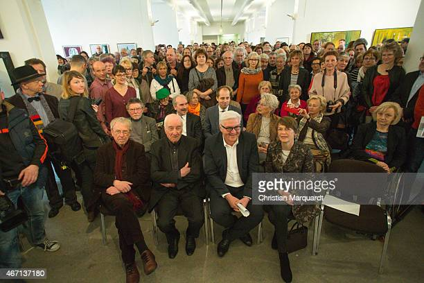 Armin Mueller-Stahl, German Minister for Foreign Affairs Frank-Walter Steinmeier and his wife Elke Buedenbender attend the opening of...