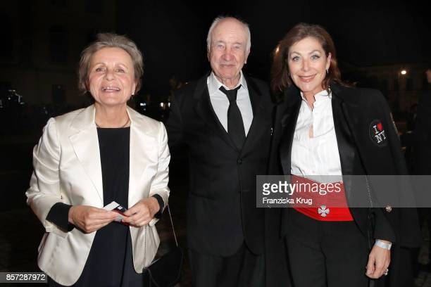 Armin MuellerStahl his wife Gabriele Scholz and Alexandra von Rehlingen attend the ReOpening of the Staatsoper Unter den Linden on October 3 2017 in...