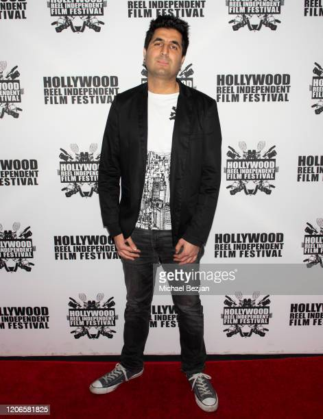 Armin Nasseri arrives at A Dark Foe Film Premiere on February 15 2020 in Los Angeles California