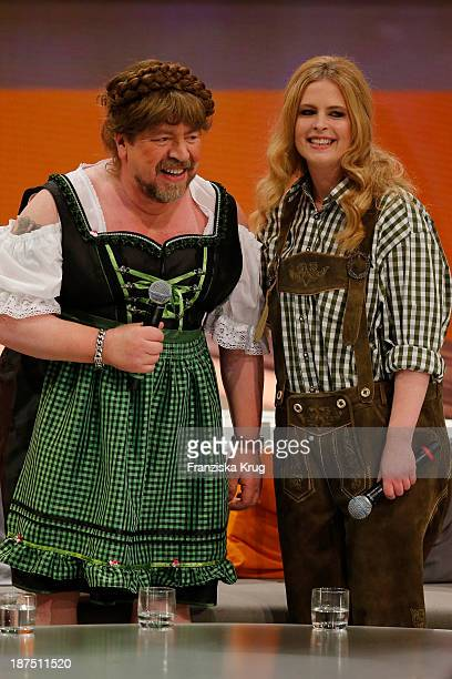 Armin Rohde and Diana Amft attend Wetten dass tv show on November 09 2013 in Halle an der Saale Germany