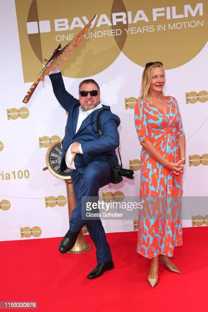 Armin Rohde and his girlfriend Karen Boehne during the Bavaria Film Reception One Hundred Years in Motion on the occasion of the 100th anniversary of...