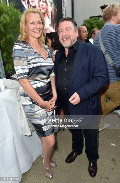 Armin Rohde and his girlfriend Karen Boehne during the Bavaria Film reception during the Munich Film Festival 2018 at Kuenstlerhaus am Lenbachplatz...