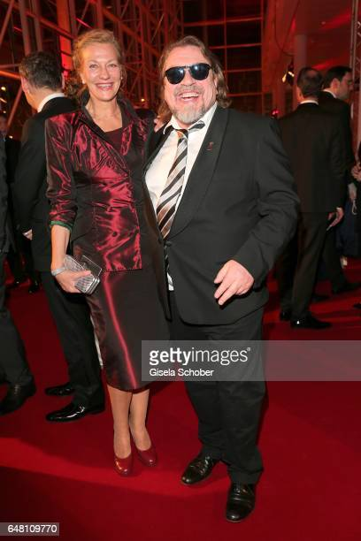 Armin Rohde and his girlfriend Karen Boehne during the Goldene Kamera reception at Messe Hamburg on March 4 2017 in Hamburg Germany