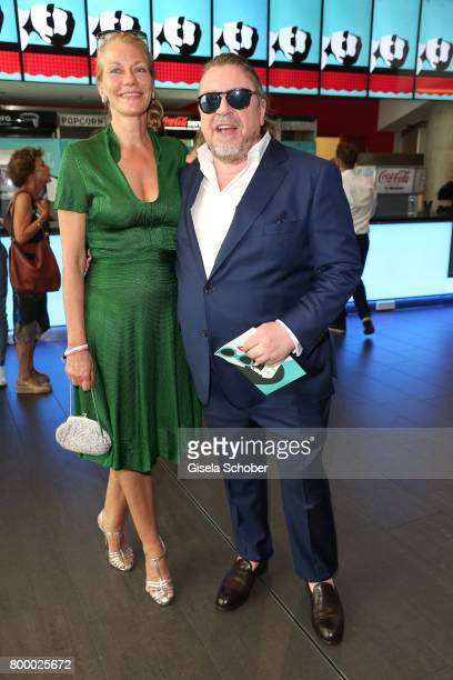 Armin Rohde and his girlfriend Karen Boehne during the opening night of the Munich Film Festival 2017 at Mathaeser Filmpalast on June 22 2017 in...