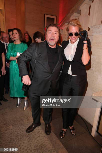 Armin Rohde and his girlfriend Karen Boehneduring the Berlin Opening Night by Bertelsmann Content Alliance at hotel Das Stue on February 20 2020 in...